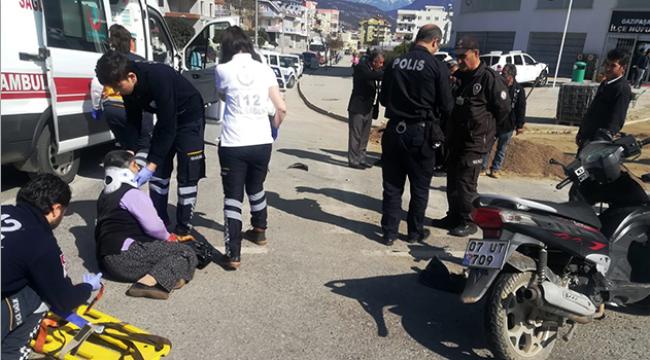 Gazipaşa kaza: 1 yaralı