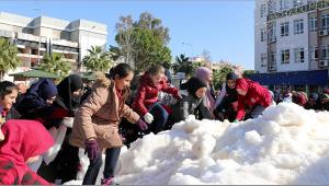 Öğrencilere kar sürprizi