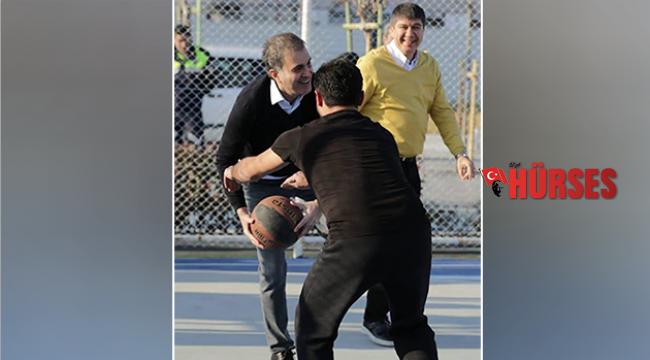 Türel ile Çelik basketbol oynadı