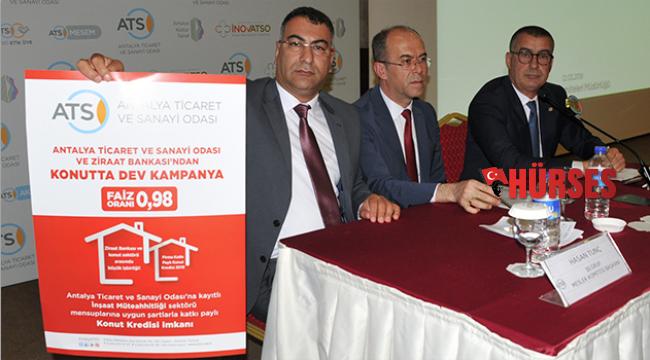 ATSO üyesi firmalara konut kredisi imkanı
