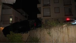 Polisten kaçtı, duvara çarptı