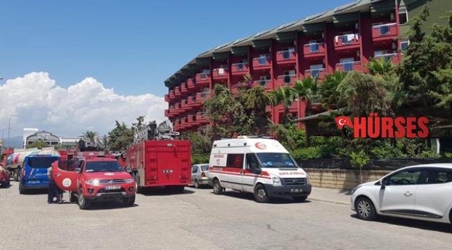 Alanya'da otel yangını korkuttu