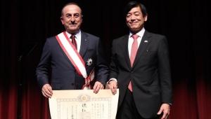 Çavuşoğlu'na Japonya devlet nişanı tevdi edildi