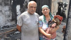 Hem evleri hem umutları kül oldu