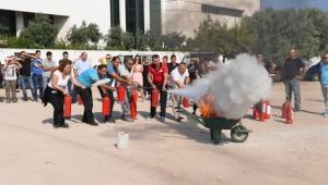 Konyaaltı'nda yangın eğitimi