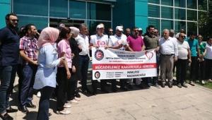 Taşeron işçilerden hak kayıplarına tepki