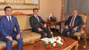 Türkmenistan büyükelçisinden Vali Karaloğlu'na ziyaret