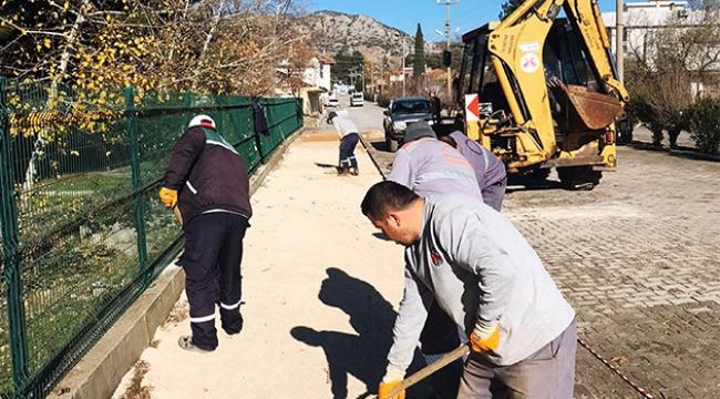 Döşemealtı'nda kilit taşı çalışmaları