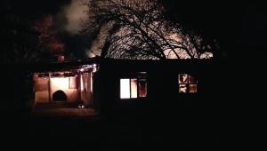 Kaş'ta ev yangını