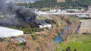 Alanya'da korkutan atölye yangını
