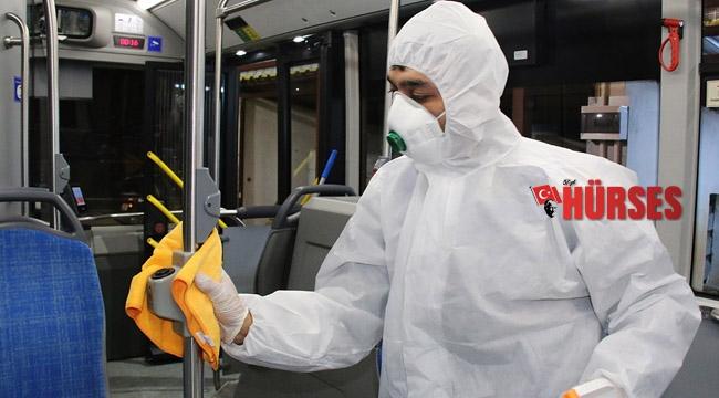 Antalya'nın 19 ilçesi 32 bin litre dezenfektan ile temizlendi