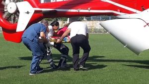 Hava ambulansı havale geçiren minik Elmas için havalandı