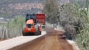 Kaş'ta 11 km'lik yolda asfalt çalışması
