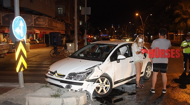 Kaza yapıp üzerine gelen araçları son anda gördü, kaçamadı