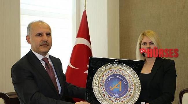 Rektör Özkan'dan Başsavcı İnal'a iade-i ziyaret