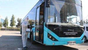 Toplu taşımada 550 otobüs kesintisiz dezenfekte ediliyor