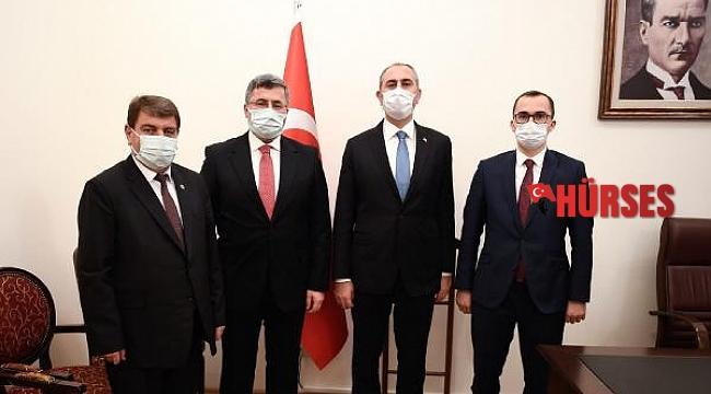 Dinar heyetinden Bakan Gül'e ziyaret