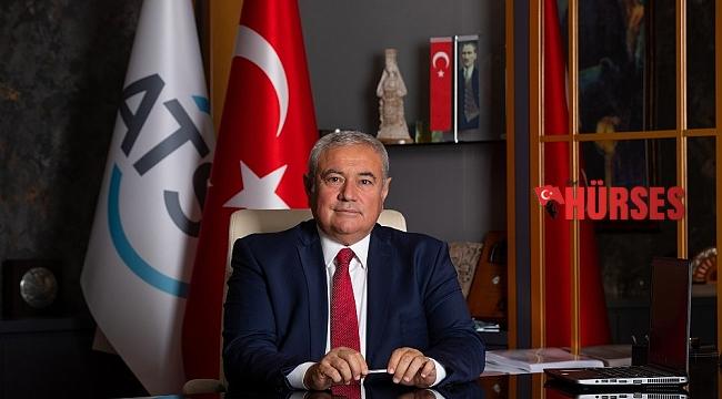 """ATSO Başkanı Çetin: """" Enflasyonu meyve sebze aşağı çekti, et, süt ürünleri ve yağ artırdı"""