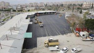 Toptancı Halinde 4 bin 500 metrekarelik alana asfalt çalışması