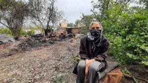 Kızını ziyaretteyken, evi yandı