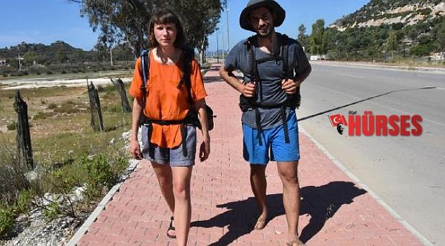 Eğitime gelip tanıştı, Likya Yolu'nda yürüyüşe çıktılar
