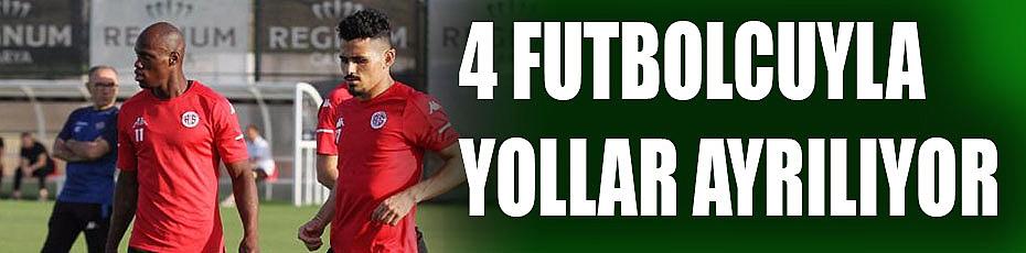 Antalyaspor, 4 futbolcuyla yolları ayırıyor