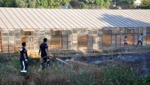 Gazipaşa'da sera atıkları yangını korkuttu