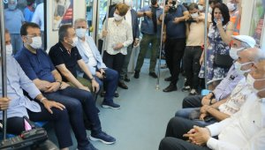 Antalya'da 3. Etap Raylı Sitemin test sürüşü başladı