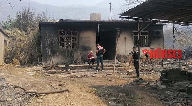 Yangından acı haber