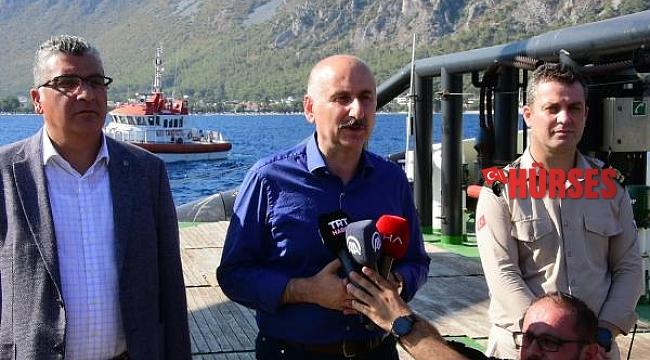 Karaismailoğlu, Nene Hatun Gemisi'nde yangın açıklaması