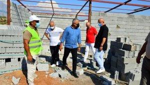 Afet bölgesi Manavgat'ta yapım onarım çalışmaları