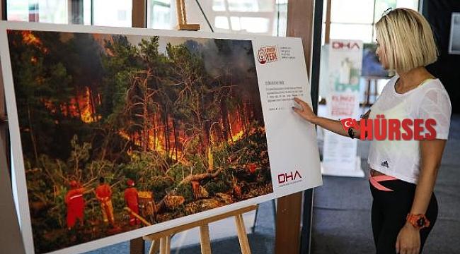 DHA'nın 'Yangın Yeri' sergisinde 5 bin fidan dağıtıldı