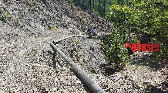 Manavgat Kızıldağ'da içme suyu hattı yenilendi
