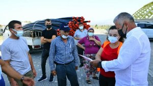 Yangınzede üreticilere sulama borusu desteği