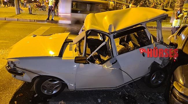 7 aracın karıştığı kazada ortalık savaş alanına döndü: 1 ölü, 8 yaralı !
