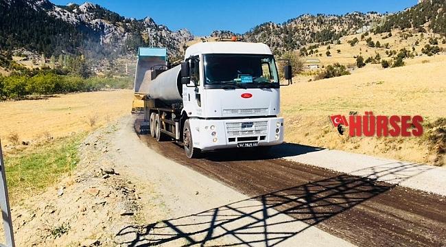 Alanya'da asfalt çalışması yayla yollarında devam ediyor
