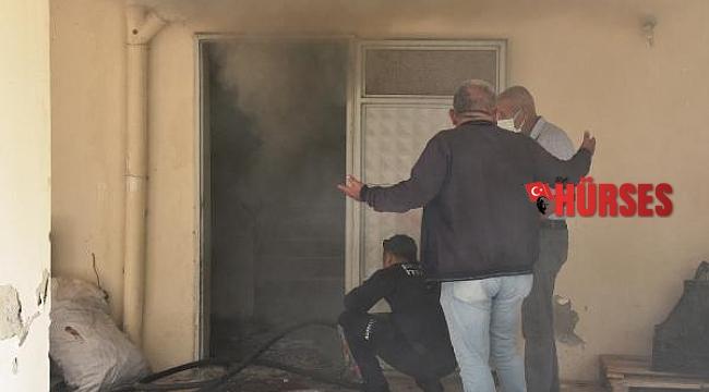 Apartman bodrum katında yangın