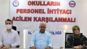 Eğitim Bir-Sen Antalya Şube Başkanı Miran'dan okullara personel çağrısı