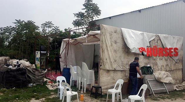 Çadırda tombalaya polis baskını
