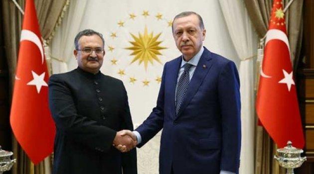 Cumhurbaşkanı Erdoğan, Pakistan Büyükelçisi Qazi'yi kabul etti