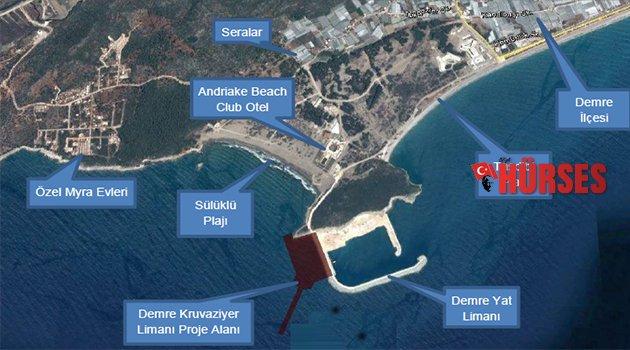 Demre'ye Kurvaziyer Yat Limanı Projesi