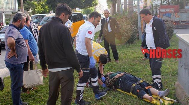 Gazipaşa'da kaza: 2 yaralı