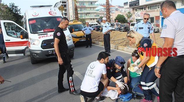 Ticari taksi çocuğa çarptı
