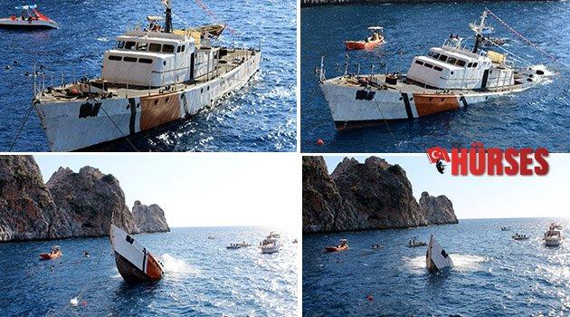 Sahil güvenlik gemisi turizme hizmet edecek