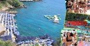 Plajda renkli görüntüler