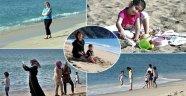 Alanya'da tatilciler denize girdi