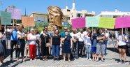 Gazipaşa'da çocuk istismarı protestosu