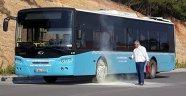 Halk otobüsünde korkutan yangın