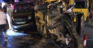 TIR, araçlara çarptı: 6 yaralı
