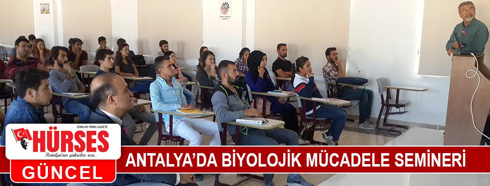 Antalya'da biyolojik mücadele semineri